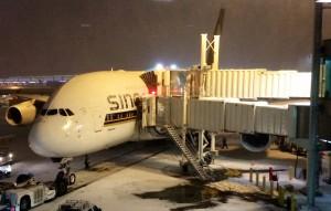 Ankunft bei Schnee auf dem JFK Tobias Dunkel