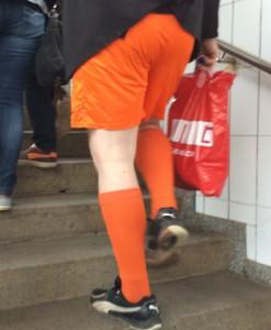 Der Bochumer Fan ist auch Auswärts stehts gut gekleidet